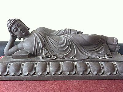 Buddha in nirvana posture.