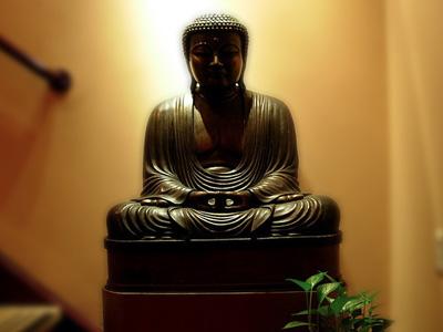 Statue of a Buddha.