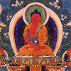 Thangka image of Amitabha Buddha.