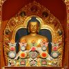 Shrine of a large Tibetan Buddha.
