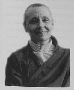 Portrait of Bhikshuni Tenzin Palmo.