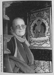 Portrait of Bhikshuni Ngawang Chodron.