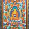 Thangka image of 35 Buddhas