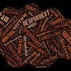 Many emotional words - depressed, sorrow, hurting, upset, hurting, miserable, grieving, affliction etc. in black background.