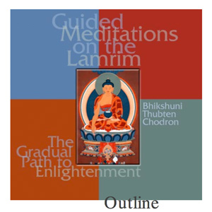 Cover of the Guided Meditation on the Lamrim outline booklet.