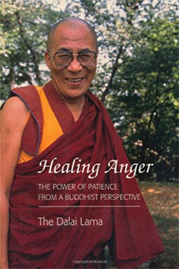 Cover of the book 'Healing Anger' by His Holiness the Dalai Lama.
