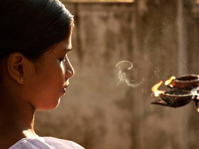 Young woman meditating.