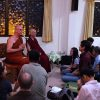Venerable Chodron and Venerable Dhammika having a talk at the Buddha Dhamma Mandala Society.
