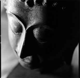Face of a Buddha.
