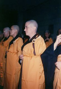 Image of Venerable Thubten Chodron ordination