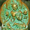 A Green Tara tsatsa.