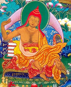Thangkha image of Chandrakirti.