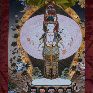 1000 Arm Chenresig Thangka