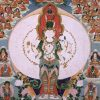 Thangka image of Chenrezig.