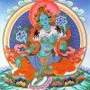 Una imagen Thangka de Tara Verde.