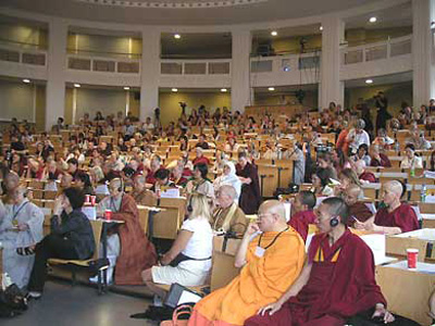 Audience at the The First International Congress on Buddhist Women's Role in the Sangha in Hamburg, Germany.