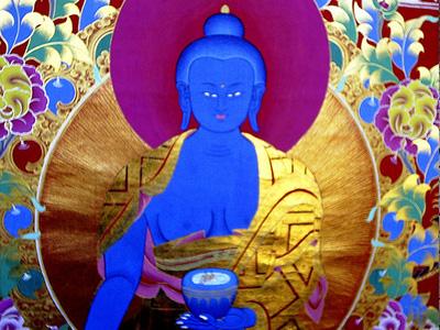 Medicine Buddha thangka image.