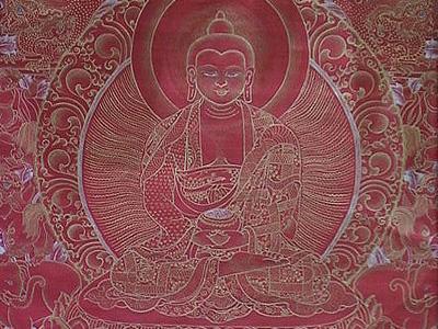 Thangka image of Medicine Buddha.