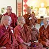 Ven. Yeshe and other nuns in a Buddhist Monastic Gathering.