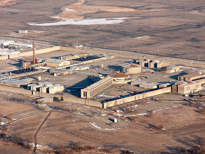 Aerial view of Stateville Correctional Center.