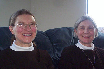 Carmelite nuns Nancy and Leslie.