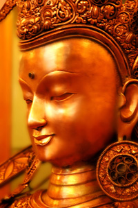 A picture showing the face of Manjushri