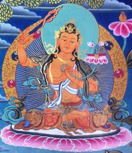 Thanka image of Manjushri