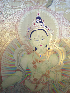 Image of Green tara in gold color