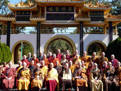 Group photo of monastics at the 15th annual WBMG.