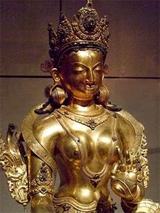 Statue of White Tara.