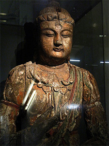 Statue of a bodhisattva.