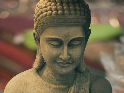 Face of a serene buddha.