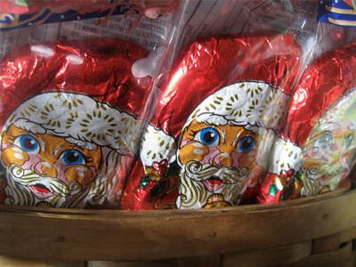 Santa Claus candy.
