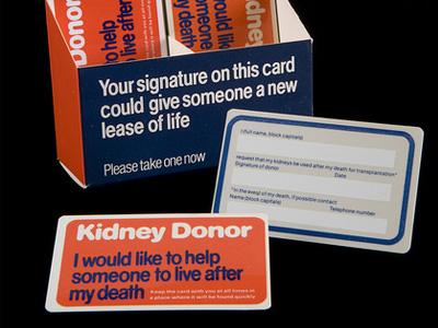 Organ donation card.