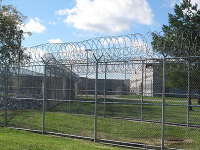Prison yard.