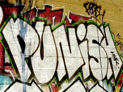 The word: Punish written on a wall.