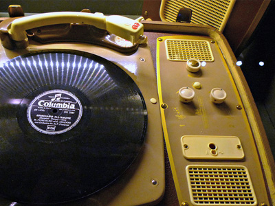 An old record player from the 1960s.