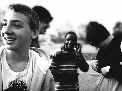 A group of teenage boys.