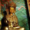 Golden statue of Vajrasattva.