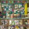 World religions section of bookstore.
