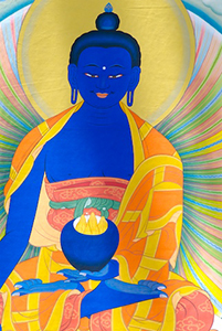 Close-up image of Medicine Buddha.