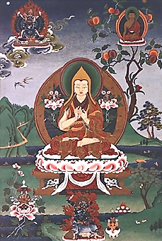 Thangka image of Lama Tsongkhapa