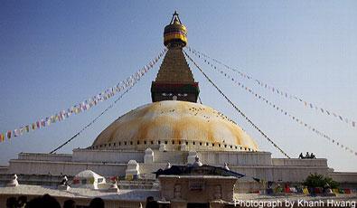 Estupa Bodhanatha en Nepal.