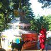 Venerable Chodron circumambulating Geshe Jampa Wangdu's stupa at Tushita.