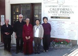 Venerable Chodron at San Quentin Prison in California.