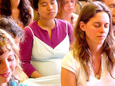 A group of meditators.