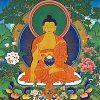 Thangka image of the Buddha.