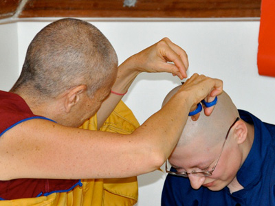 Ven. Chodron removes the last bit of Katya'shair.