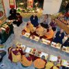 Group of monastics and laypeople practicing on Lama Tsongkhapa Day.