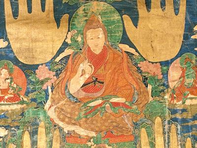 Thangka image of His Holiness the Third Dalai Lama.